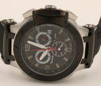 Venta caliente Reloj de cuarzo Cronógrafo hombres T-carrera Portatil T0484172705702 relojes banda de caucho negro COUTURIER 1853