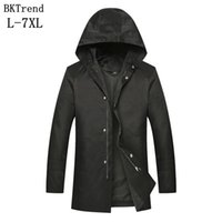Wholesale- BKTrend 2017 New Style Hooded Long Trench Coat Me...