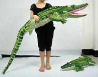 "1# 165cm Crocodile Plush Stuffed Animal Doll Toy Pillow Cushion 65"""
