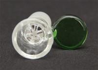 Outros tubos de fumar, bongos 14mm 18mm conector masculino, acessórios de narguildade com alça, azul transparente ou verde, sem fio