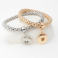 Оснастки кнопки браслет ювелирные изделия Оснастки браслеты подходят 20 мм металлические кнопки золото серебро цвет Нуса куски ювелирных изделий
