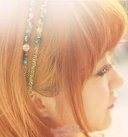 Bayan düzensiz kristal saç bantları altın tel sarma kafa bantları Boncuklu kafa hoop lady saç bandı rhinestones saç aksesuarları