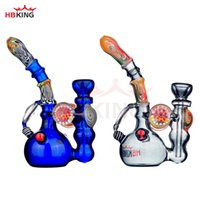 Free shipping Glass Bongs Water Pipes Oil Rig Beautiful Blue...