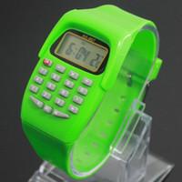 새로운 도착 다기능 시계 8 자리 계산기 실리콘 시계 시험 디지털 시계 학생 용품 배송 WH-096