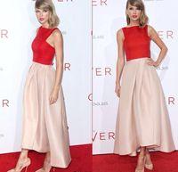 Vestidos de noche de satén rojo y rosa de moda Vestidos de fiesta formal corto y largo de vuelta Vestidos de baile asequibles