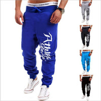 New Men Pants Sports Running Gym Sweatpants Soccer Printing ...