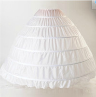 Beyaz Hollow Petticoat Artı Boyutu 2018 Yeni 6 Çemberler Düğün Petticoats Ruffles Kabarık Kızlar için Jüpon