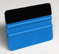 Хорошее качество инструмент для захвата автомобиля 10 * 7.5см 3M синий войлочный край шарнирные карты Bondo Squeegee с войлоком для автомобильной упаковки PA-1F целая продажа
