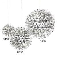 Roestvrijstalen hanglampen Lampen 110 V 240 V LED Vuurwerk Licht Bal voor Restaurant Cafe Bar Dining Woonkamer Thuis Binnenverlichting