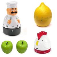 المطبخ الموقت الميكانيكية الموقت سلسلة المنبه تذكير أبل الليمون طباخ الديك الشكل 60 دقيقة أدوات المطبخ توقيت الأسهم المحدودة