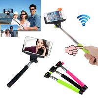 Selfie Sticks Bluetooth Selfie Monopode Bluetooth Selfie Monopodes Selfie Bâton Bluetooth À Distance Obturateur Clip Z07-5 Pour iPhone Samsung DHL