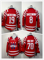 2016 Washington Winter Classic Hockey Jerseys Jugend 8 Alexander Alex Ovechkin 19 Nicklas Backstrom 70 Braden Holtby Jersey