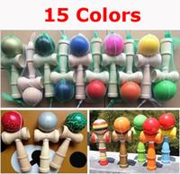 Горячее сбывание Большой размер 19 * 6cm Kendama Ball Японский традиционный игрушечный игрушечный игрушка игрушки образования 15 цветов Оптовая продажа