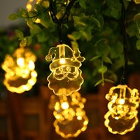 7 photos wholesale solar powered christmas yard decorations online m solar powered waterproof led santa claus string - Solar Powered Christmas Yard Decorations