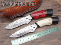 Imported VG10 Damascus steel swordfish straight knife 60hrc ...
