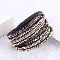 7 Colors Sparkling Gold Charm Crystal Rhinestone Multilayer ...