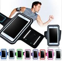 Case Cover bracciale per l'iphone 7 più impermeabile della palestra di sport Esecuzione sacchetto del sacchetto per S8 più S7
