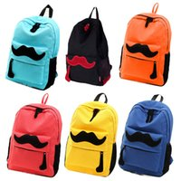 2015 Free & Drop Shipping Cute Mustache Women Canvas Travel ...