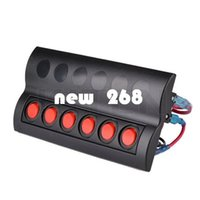 Marine Boat Spritzwassergeschützte Schalter Panel 6 Gang Leistungsschalter LED-Anzeige Rocker