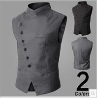 New Arrival! Men Suit Vest Slim Dress Vests Men' s Fitte...