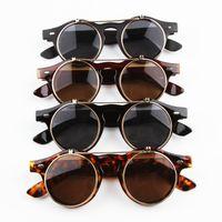 حار بيع Steampunk القوطي نظارات نظارات جولة الوجه حتى النظارات الشمسية الرجعية خمر الإكسسوارات GS-056