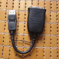 50pcs / lot Adaptateur de câble Active Video DisplayPort DP vers DVI Single Link Support de convertisseur de câble DisplayPort vers DVI 6 LCD