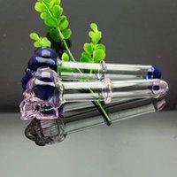 Um novo tubo de osso do crânio rodada única Tubos de vidro atacado tubos de queimadores de óleo de vidro curvo, entrega gratuita
