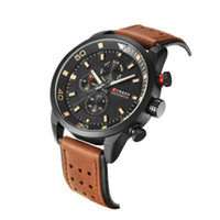 CURREN Marke Top neue Mode lässig Quarz Armbanduhr Männer Leder Uhren Armband Runde Quarz wasserdicht