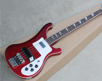 The Wholesale- New Brand 4- String Claret- red Electric Bass wi...