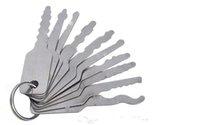 Novas 10 pçs auto jigglers chaves para bloqueio de dupla face set de teclas lockpick sets locksmith ferramenta freeshipping