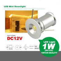 LED Mini Downlight 1W DC12V Pilote Intégré Économie D'énergie Lampe Économie D'énergie Ampoule Cabinet Lumière Spotlight