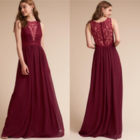 BHLDN Plus Size Bridesmaids Dresses Long Burgundy Maid Of Ho...
