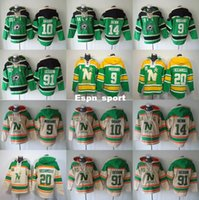Factory Outlet, Stars de Dallas à capuche Hockey 9 Mike Modano 20 Dino Ciccarelli Sweat-shirt 10 Shawn Horcoff 14 Jamie Benn Hoody 91 Tyler Seguin