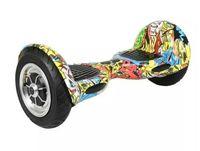 새로운 arrivel 10 인치 큰 타이어 미니 스마트 두 바퀴 자기 균형 전기 스쿠터 스케이트 보드 LED 빛으로 성인 전자 외발 자전거