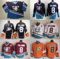 Factory Outlet, Anaheim Canards Jersey Selanne Purple Youth Puissants Ducks Teemu Selanne Jersey Maillots De Hockey Enfants Turquoise CCM Vintage Throwb