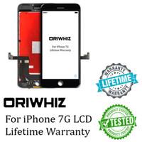 ORIWHIZ Color blanco y negro para iPhone 7 Pantalla táctil LCD 100% Prueba No Píxeles muertos Soporte de asamblea del digitizador de calidad superior DHL gratis
