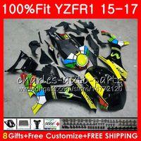 ヤマハグロスブラックYZF 1000 YZF-R1 15 17 YZF R1 2015 2017 2017 87NO29 YZF1000 YZF R 1 YZF-1000 YZFR1 15 16 17フェアリングキット