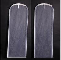 الجملة على الوجهين غزل شفاف غزل أبيض فستان الزفاف غبار حقيبة اللباس غطاء زائد غزل طويل غطاء الغبار