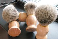 Профессиональный парикмахерский волосы бритвы бритвы кисти натуральные деревянные ручка барсука щетка для белья для лучшего мужчин подарочный парикмахерский инструмент мужской уход за лицом