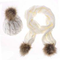 Зима Теплая Женская Мода Вязаный Шарф И Шляпа Набор Вязание Крючком Cap Шапочка Лыжная Шляпа Рождественские Подарки