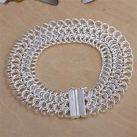 Commercio all'ingrosso - - Braccialetto d'argento 925 del regalo di Natale di prezzi più bassi al minuto, Large005