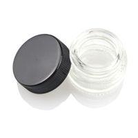 Grau alimentício recipiente de vidro antiaderente 5 ml cera Dab óleo Jar com tampa preta Dabber seco erva concentrada recipiente cigarro E cigs