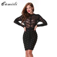 Wholesale- CIEMIILI 2017 New Women Evening Party Bandage Dre...