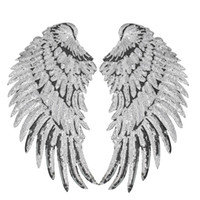 1 Pairs Sequined Wings Patches for Clothing Iron on Transfer...