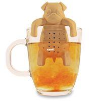 Tamices de té encantadores Barro amasado En una taza Colador de té de silicona Infusor Kawai Perro portátil Coladores de té