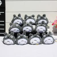 Hayao Miyazaki Grey Meu Vizinho Totoro Plush-chaves Pingentes brinquedos macios Com Anel sete centímetros EMS frete grátis