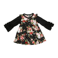 Wholesales Europe Kids Clothing Dresses Fall Autumn Black Ic...