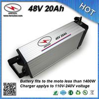 Venta caliente batería de litio de 48 voltios 48V 20Ah para bicicletas eléctricas de la bicicleta incorporadas 13S30A BMS 3.7V 2.6Ah 18650 cargador de la célula + 2A
