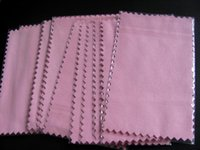 50pcs 10*7cm super NO1 pink Silver Polish Cloth for silver G...