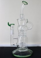 "2016NEW 3X Cyclone Perc glass bong 12"" Recycler oil rig..."